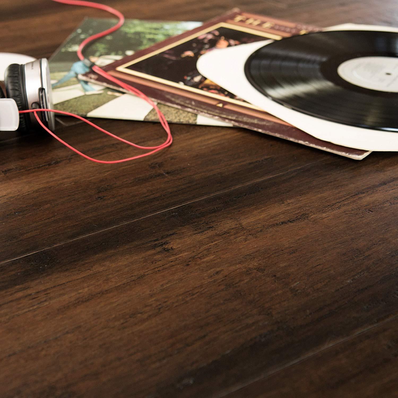 1 2 engineered hardwood flooring nailer of cali bamboo extra wide tg engineered flooring malibu dark brown with cali bamboo extra wide tg engineered flooring malibu dark brown distressed sample size 8 l x 7 1 2 w x 5 8 h amazon com