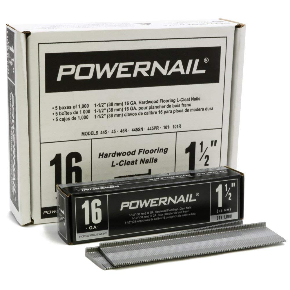 2 1 2 inch hardwood flooring of amazon com powernail powercleat 16ga 2 l cleat box of 5000 home regarding amazon com powernail powercleat 16ga 2 l cleat box of 5000 home improvement
