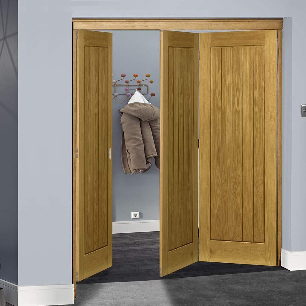 2 1 4 hardwood flooring unfinished of thrufold ely oak 2 1 folding door unfinished regarding thrufold directdoors interior oak ely doors 3 fold2