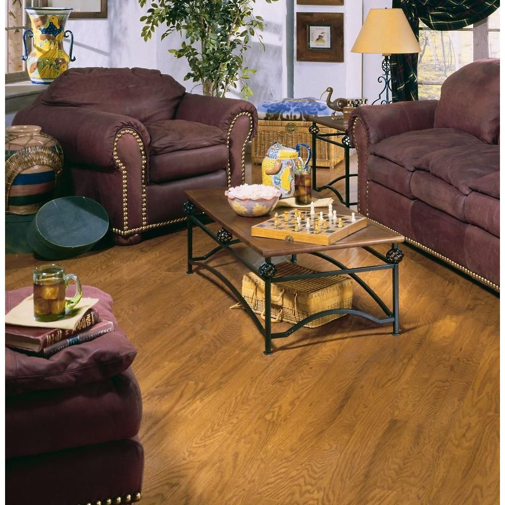 3 4 5 hardwood flooring of millstead oak spice 3 8 in thick x 4 1 4 in wide x random length within millstead oak spice 3 8 in thick x 4 1 4 in wide x random length engineered click real hardwood flooring 20 sq ft case pf9534 the home depot