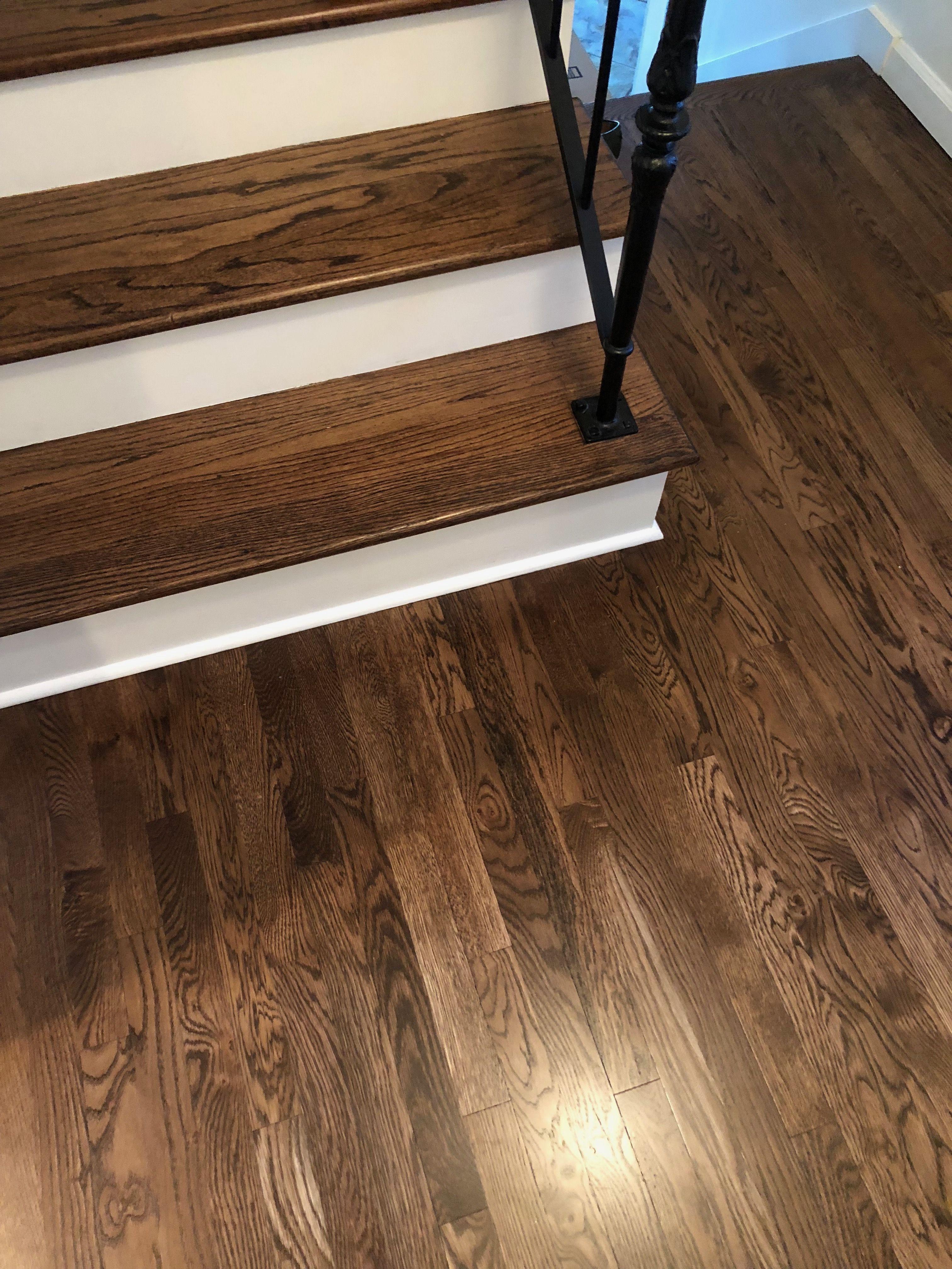 3 4 red oak hardwood flooring of duraseal dark walnut with satin finish floors are select white oak within duraseal dark walnut with satin finish floors are select white oak and stair tread is