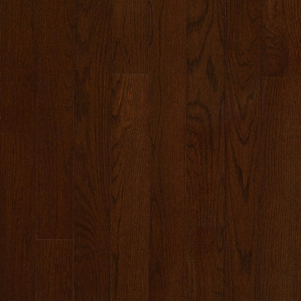 5 8 solid hardwood flooring of red oak solid hardwood hardwood flooring the home depot intended for plano oak mocha 3 4 in thick x 3 1 4 in