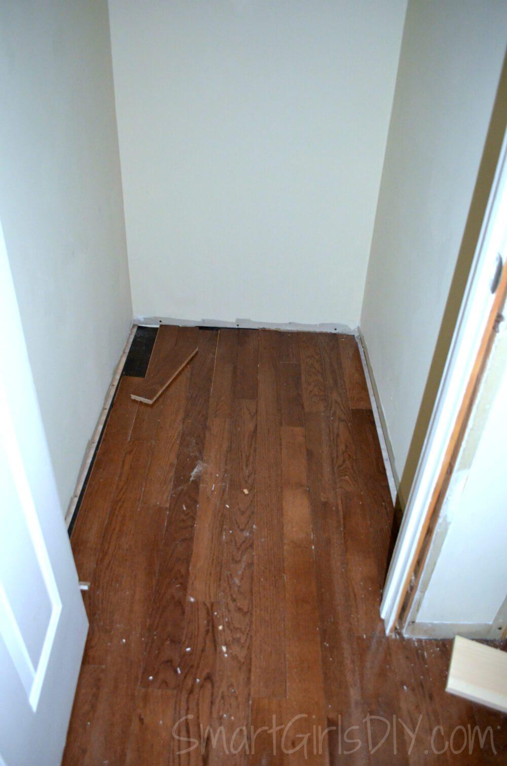 5 8 solid hardwood flooring of upstairs hallway 1 installing hardwood floors throughout hardwood extends into closet