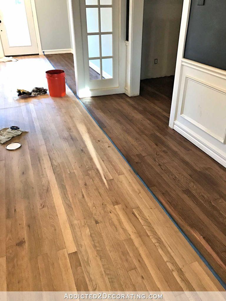 5 inch white oak hardwood flooring of white oak hardwood flooring adventures in staining my red oak with white oak hardwood flooring adventures in staining my red oak hardwood floors products process