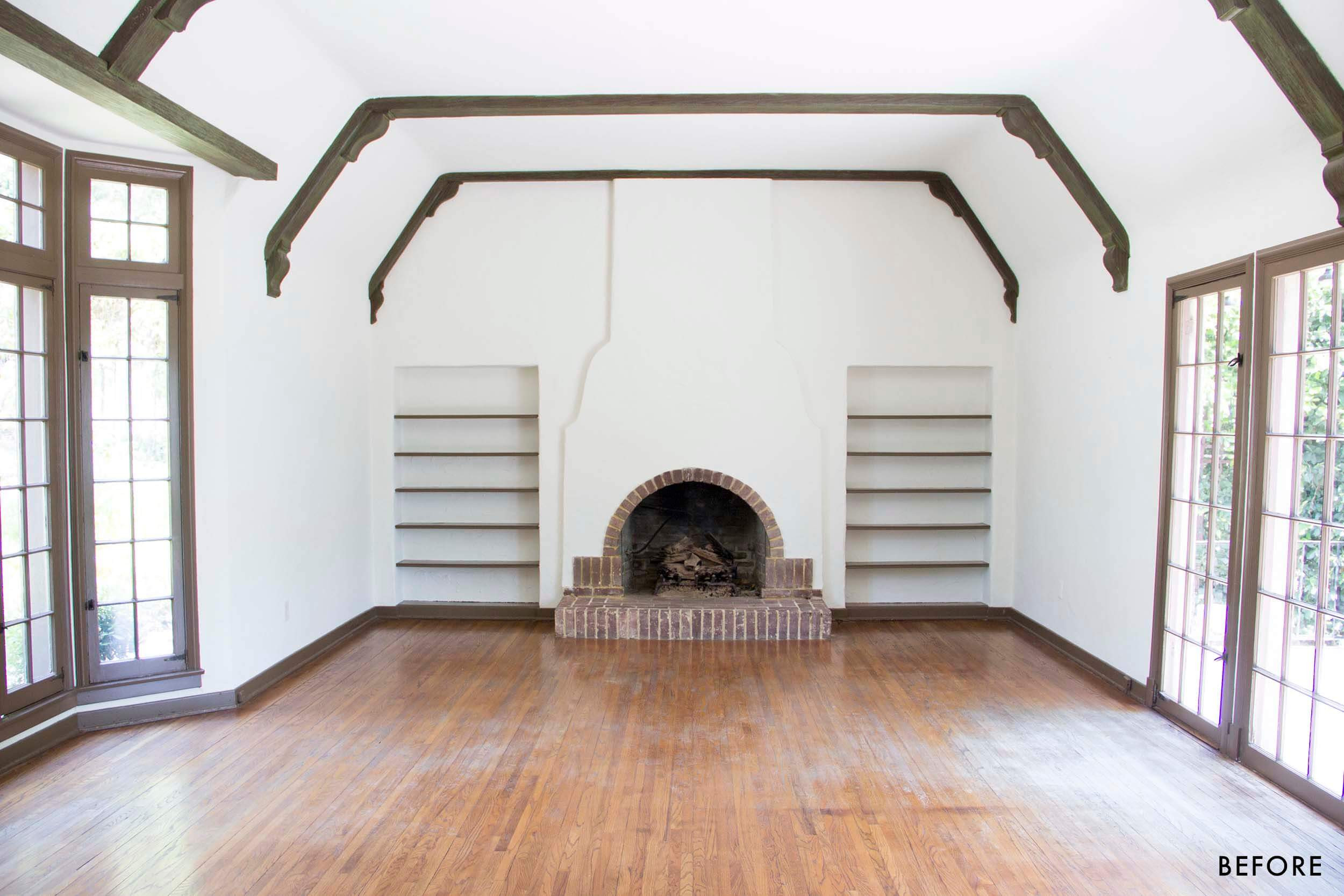 A Plus Hardwood Floors Denver Of How We Refinished Our Wood Beams Emily Henderson for Emily Henderson Waverly Living Room New before Emily Henderson Waverly Living Room before Closeup