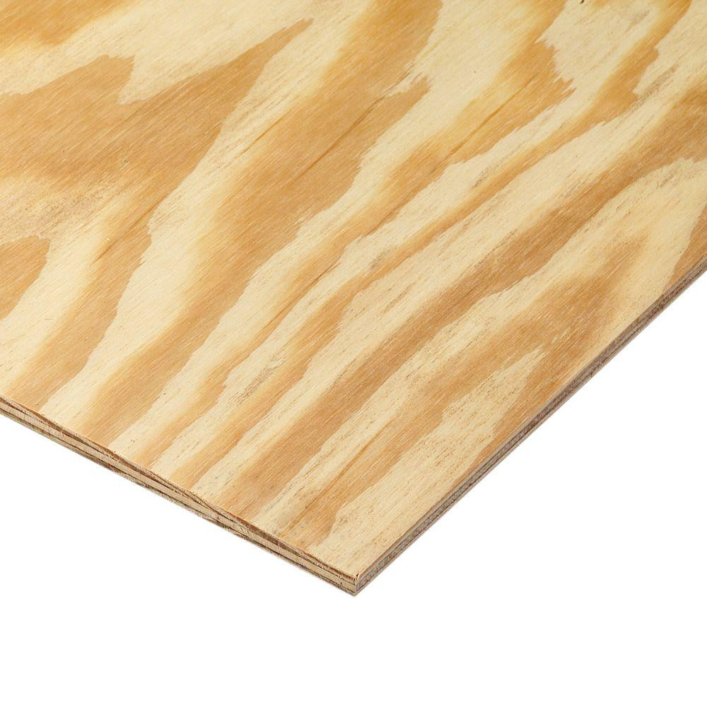 absolute hardwood flooring edmonton of 11 32 in or 3 8 in x 4 ft x 8 ft bc sanded pine plywood 166022 with regard to store sku 166022