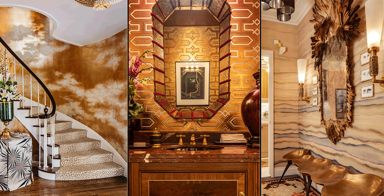 Amazonia Hardwood Flooring Outlet Inc Of De Gournay with Regard to Textured and Contemporary Metallics Showcased at the Sf and Kips Bay Showhouses Interiors by Molie Malone Scott Sanders and Wesley Moon