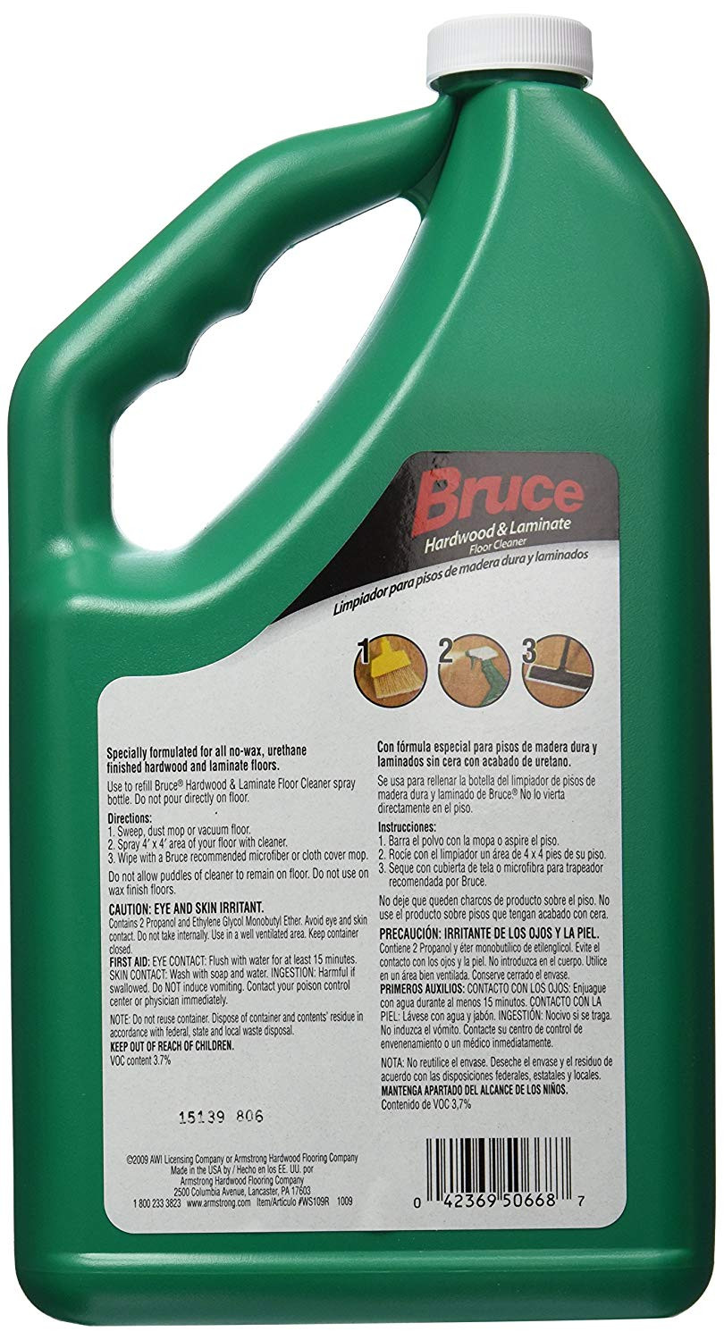 armstrong hardwood and laminate floor cleaner 32 oz spray bottle of amazon com bruce hardwood and laminate floor cleaner for all no wax in amazon com bruce hardwood and laminate floor cleaner for all no wax urethane finished floors refill 64oz home improvement