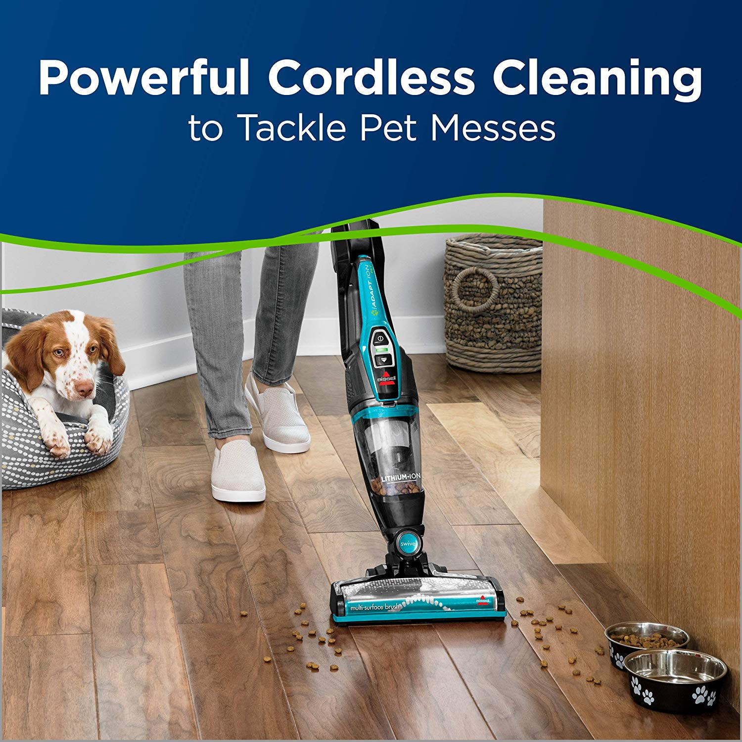 best cordless vacuum for pet hair on hardwood floors of amazon com bissell adapt ion pet 2 in 1 lithium ion cordless stick in amazon com bissell adapt ion pet 2 in 1 lithium ion cordless stick vacuum 2286a teal