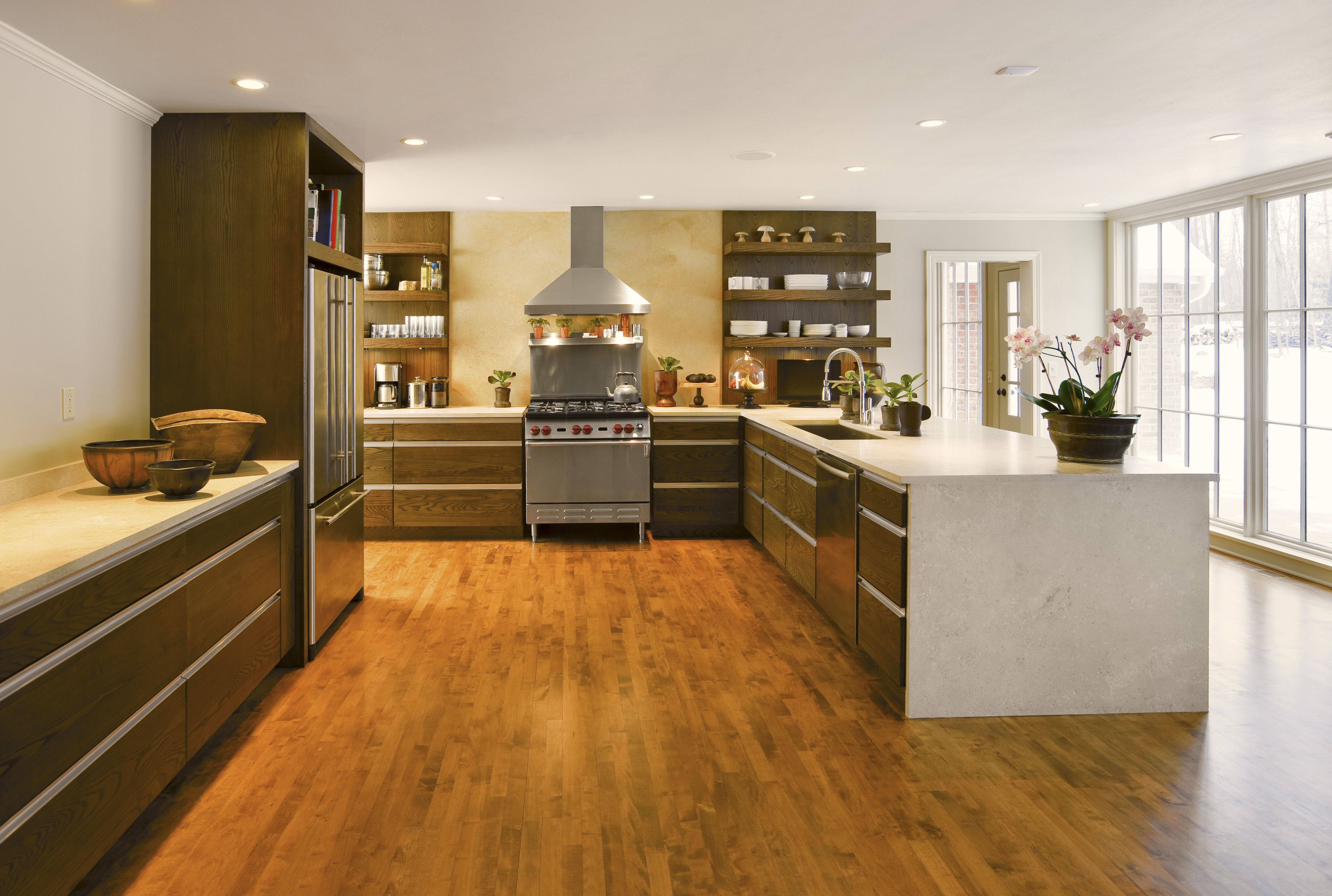 Best Hardwood Flooring for Contemporary Homes Of the Best Flooring Options for Senior Citizens within Modern Kitchen 88801369 59fd2f77b39d0300191aa03c