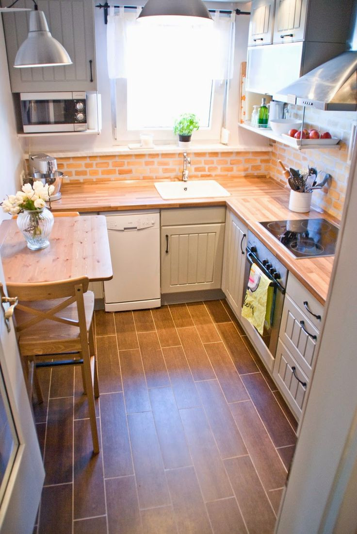 best hardwood floors for small spaces of 4741 best hogar images on pinterest cottage home ideas and for small kitchen with wood butcherblock countertops pudel design featured on remodelaholic