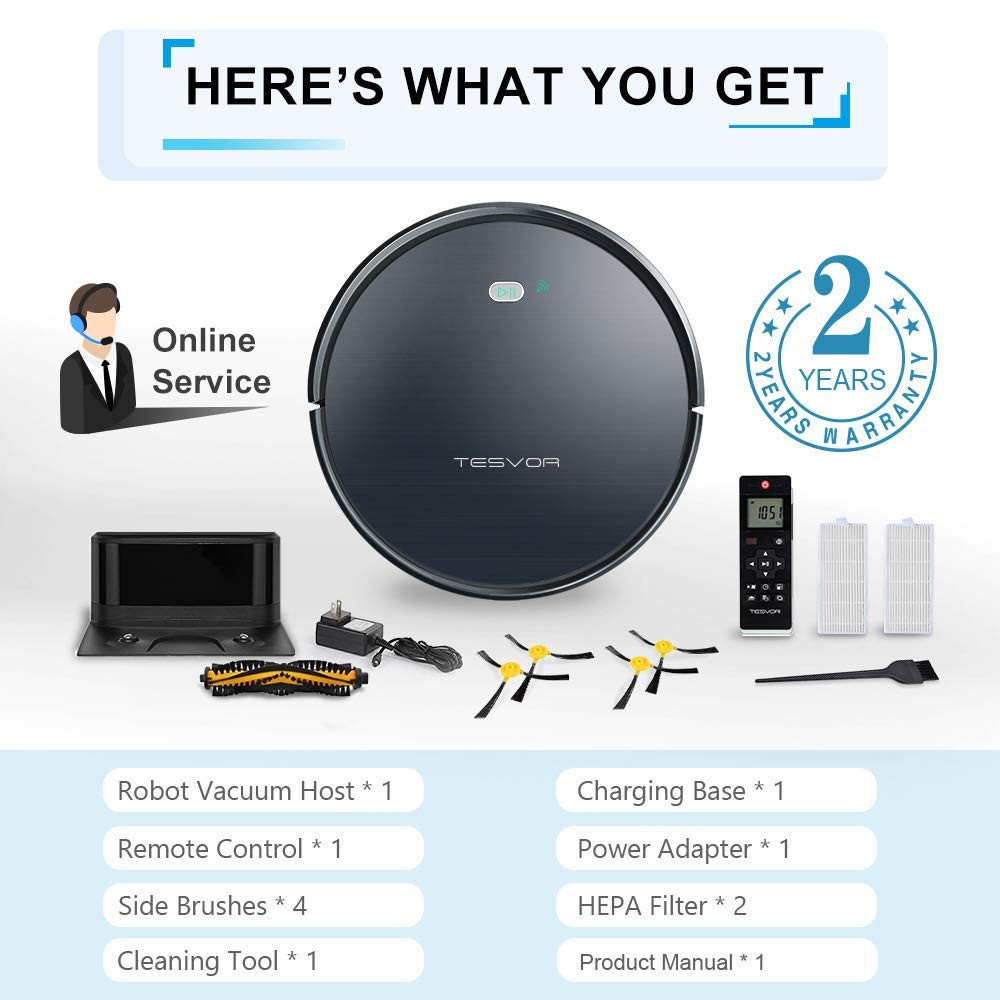 best robot vacuum for pet hair and hardwood floors of top 10 best robot vacuum cleaners that works with alexa in usa with regard to tesvor x500 robot vacuum cleaner