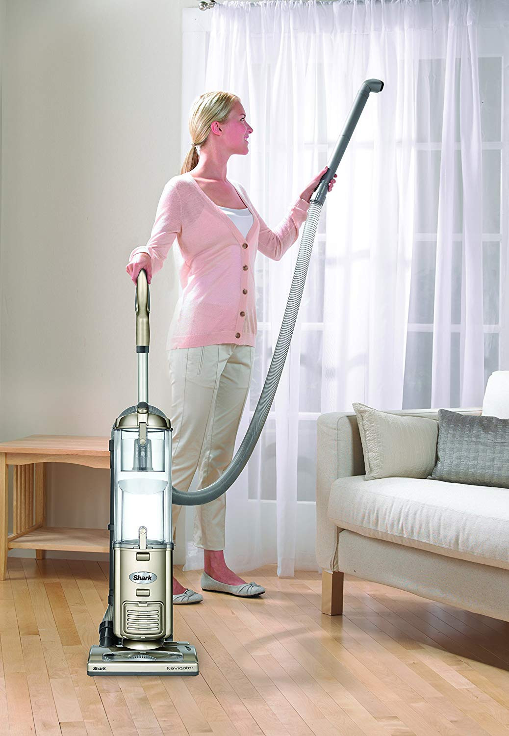 best vacuums for hardwood floors 2016 of amazon com shark navigator deluxe upright corded bagless vacuum for in amazon com shark navigator deluxe upright corded bagless vacuum for carpet and hard floor with anti allergy seal nv42 champagne home kitchen