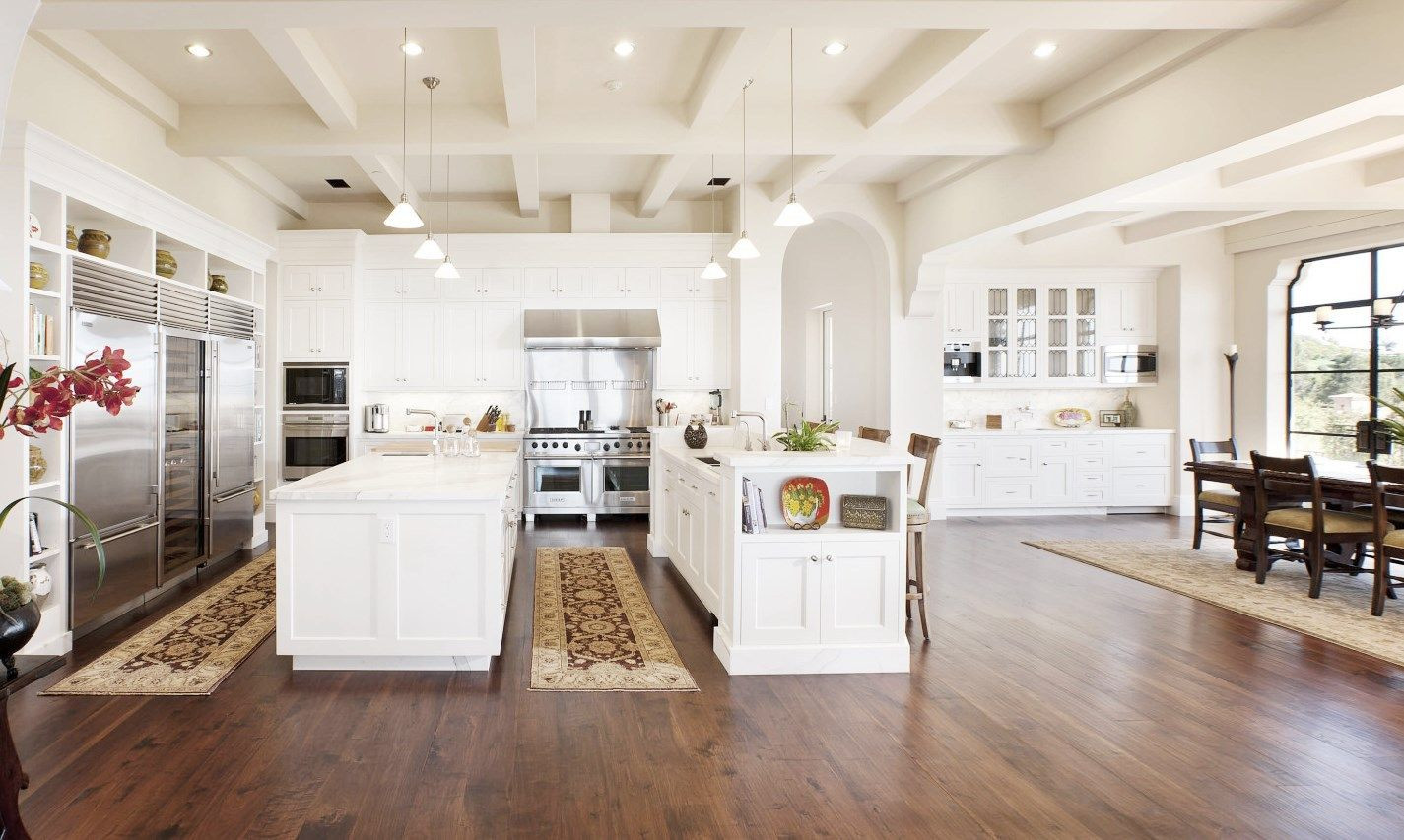 Bj Hardwood Flooring Of 45 Million Montecito Mansion See This House Kitchens Breakfast Pertaining to Santa Barbara Estate Kitchen Double island