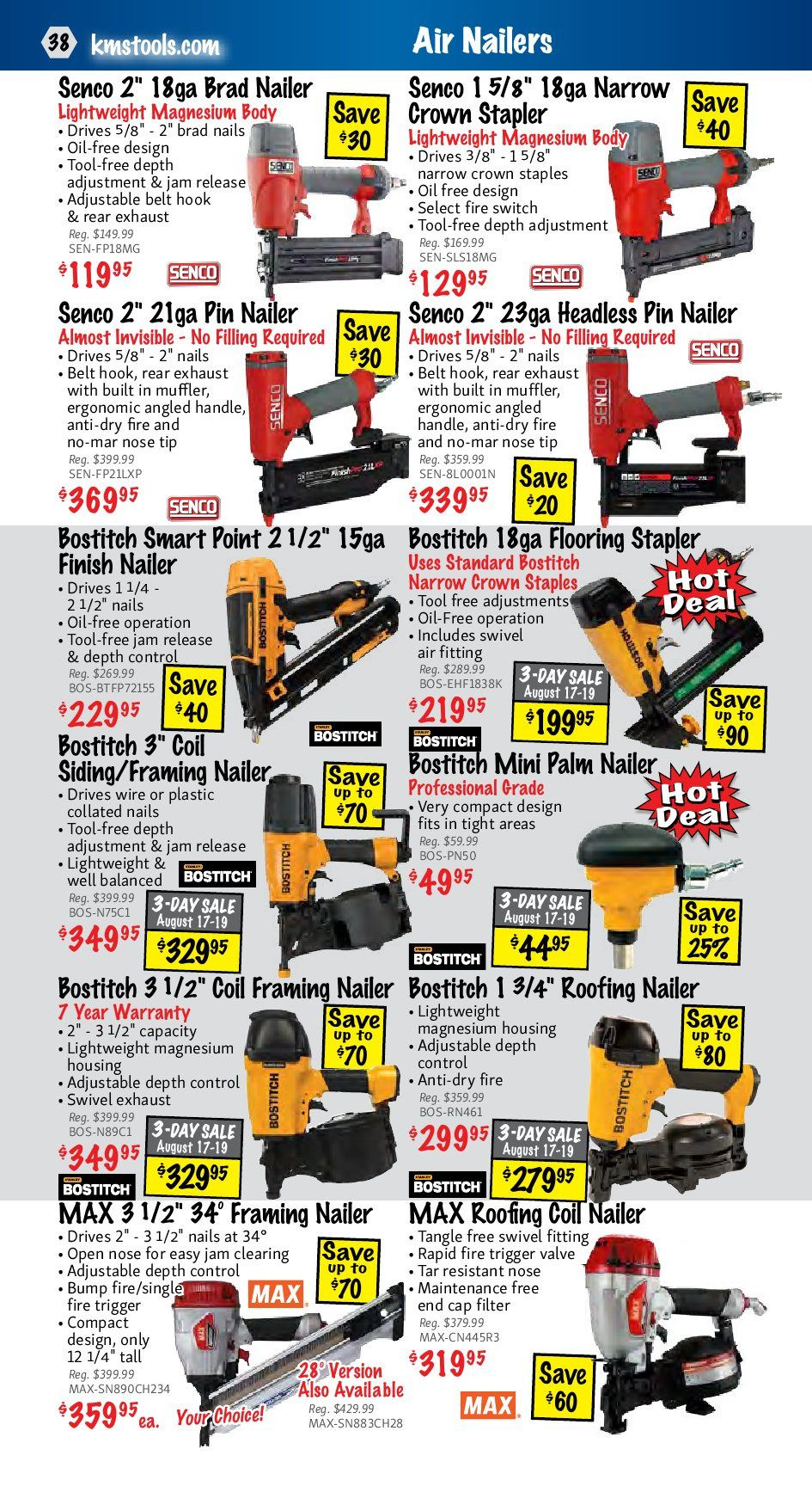bostitch ehf1838k hardwood floor stapler of kms tools weekly flyer back to trades sale aug 1 31 with regard to kms tools weekly flyer back to trades sale aug 1 31 redflagdeals com