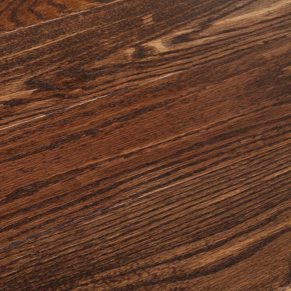 Bruce Hardwood Flooring Acclimation Time Of Bruce American Vintage Scraped Flint Oak 3 4 In T X 5 In W X Inside Bruce American Vintage Scraped Flint Oak 3 4 In T X 5 In W X Varying L solid Hardwood Flooring 23 5 Sq Ft Case Samv5fl the Home Depot