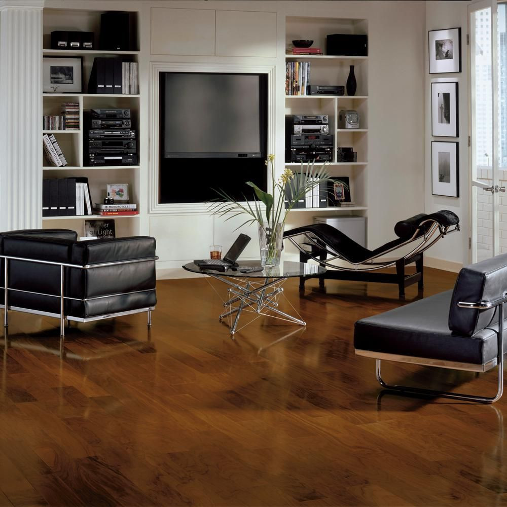 Bruce Hardwood Flooring by Armstrong Of Bruce town Hall Exotics Walnut Autumn Brown 3 8 In T X 5 In W X Regarding Bruce town Hall Exotics Walnut Autumn Brown 3 8 In T X 5 In W X Random Length Engineered Hardwood Flooring 28 Sq Ft Case Medium