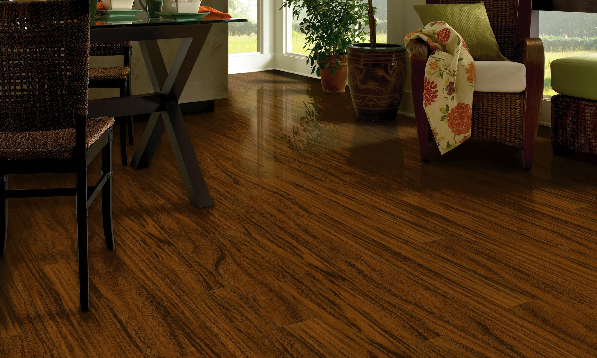 Bruce Maple Cherry Hardwood Flooring Of Laminate Flooring Between Rooms Flooring Ideas Pertaining to Natural Characteristics Of Real Bruce Hardwood Flooring Laminate with Glass top Dining