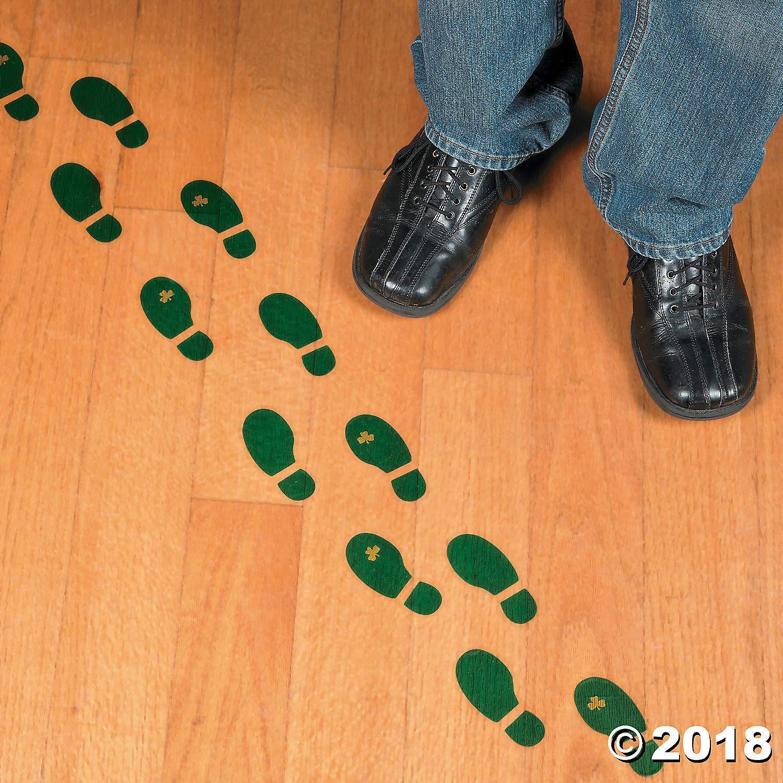 bsl hardwood flooring of amazon com leprechaun footprint floor decals 16 pairs st pertaining to amazon com leprechaun footprint floor decals 16 pairs st patricks day party decor toys games