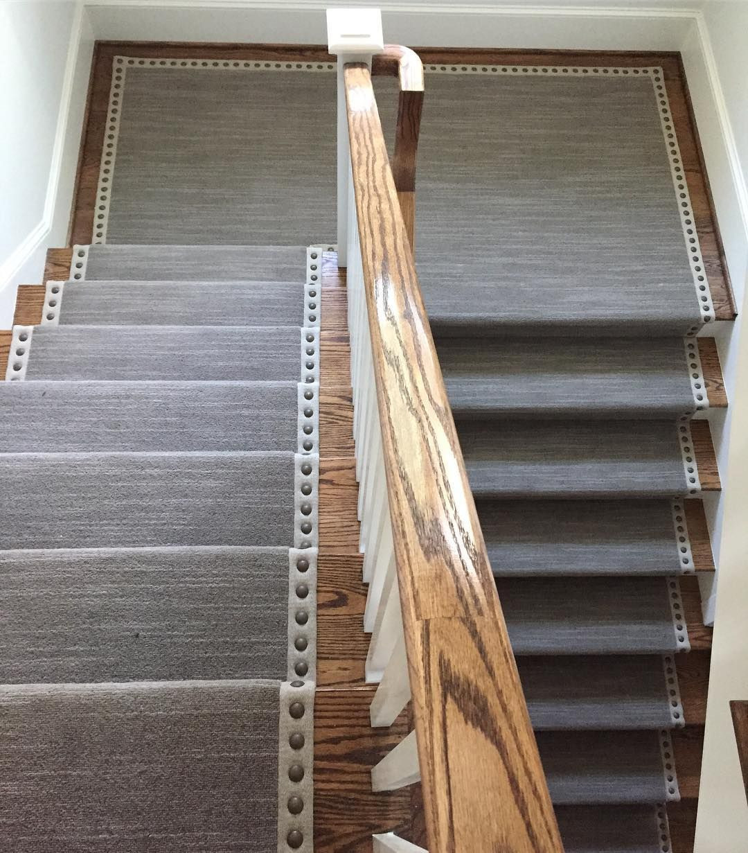 bullnose hardwood floor edging of mnailheads add an elegance to this stair runner and edge regram via within mnailheads add an elegance to this stair runner and edge regram via jabelinteriors werandy