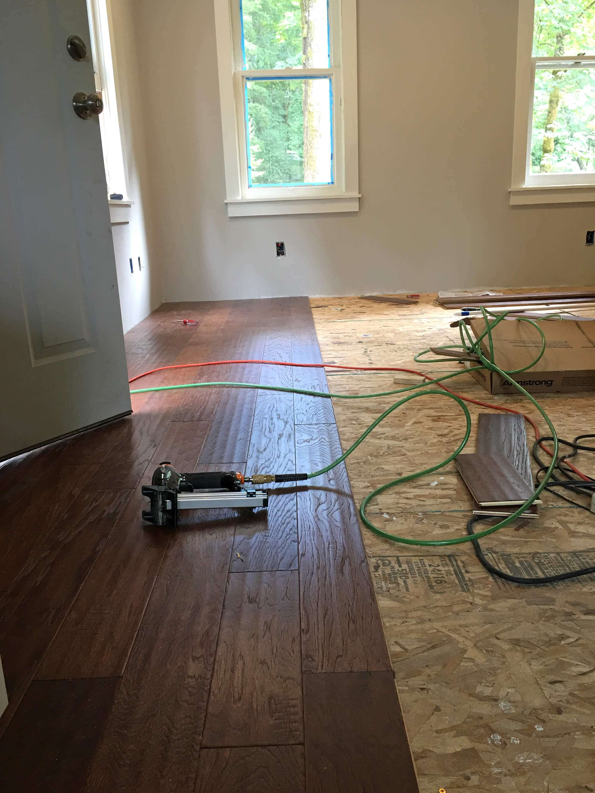 buy hardwood floor nailer of the micro dwelling project part 5 flooring the daring gourmet in as for the pattern of the flooring the floor panels come in a mixture of different lengths thats deliberate to help you avoid any obvious patterns