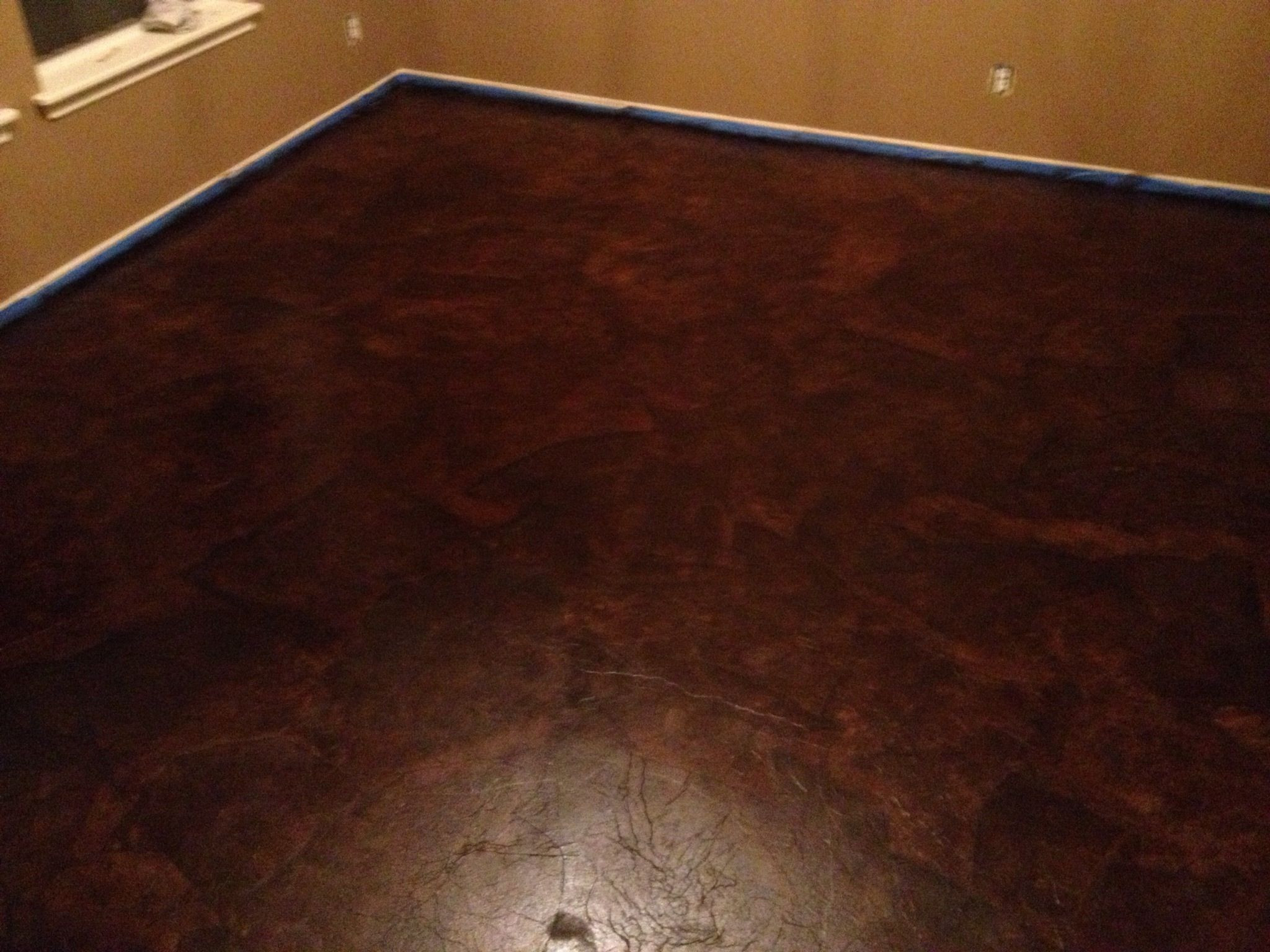 can you glue down hardwood flooring to concrete of diy paper bag floors that look like stained concrete diy brown in brown paper bag stained floors amazing project excellent instructions on how to complete the project
