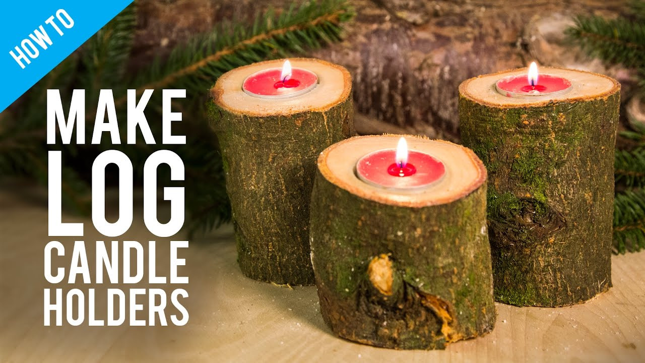 candle wax on hardwood floor of how to make rustic wooden log candle holder youtube with maxresdefault