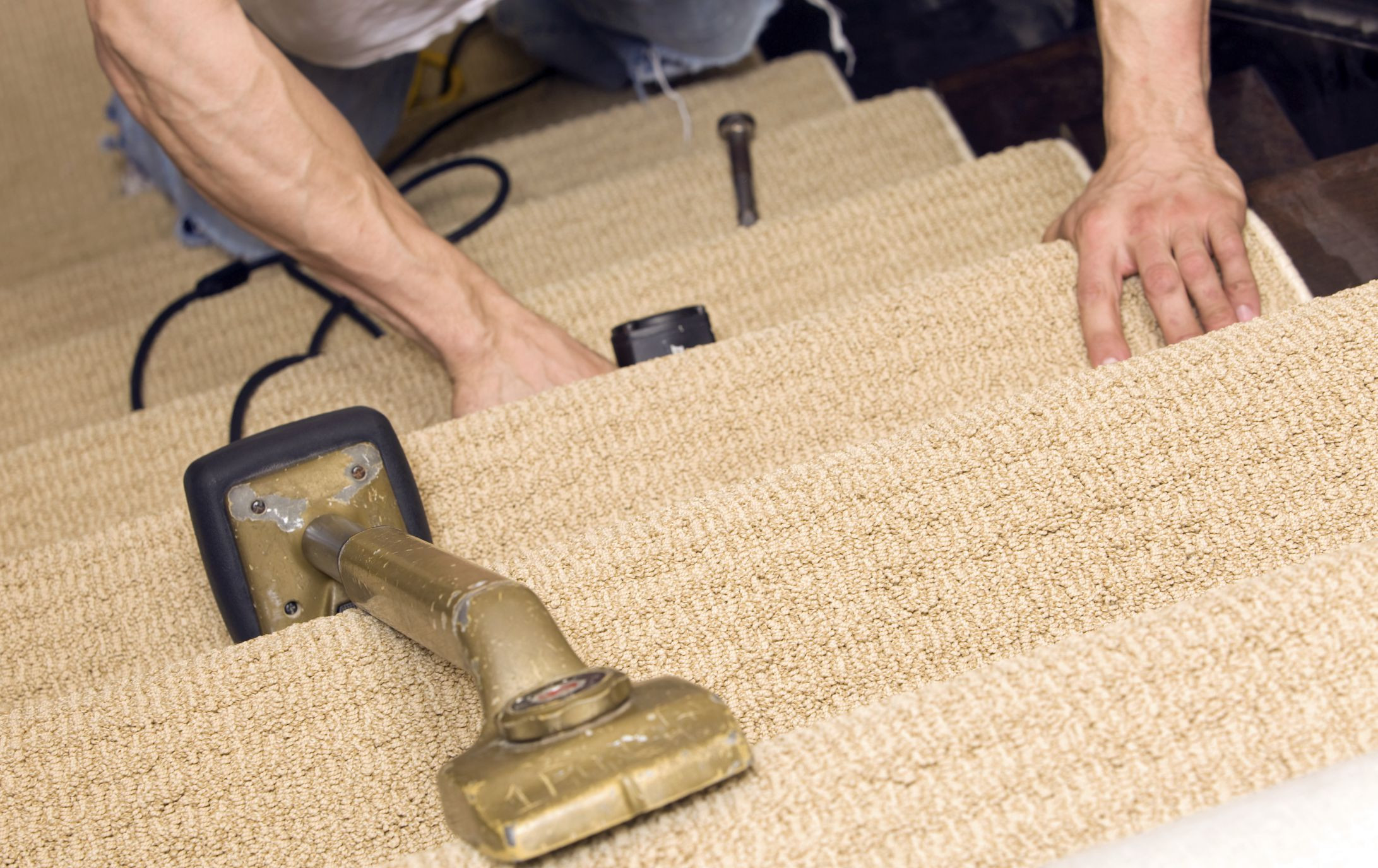 carpet runners for hardwood floors of should you put carpet on stairs or not for installing carpet on stairs 184091612 56a4a12e3df78cf7728352e5