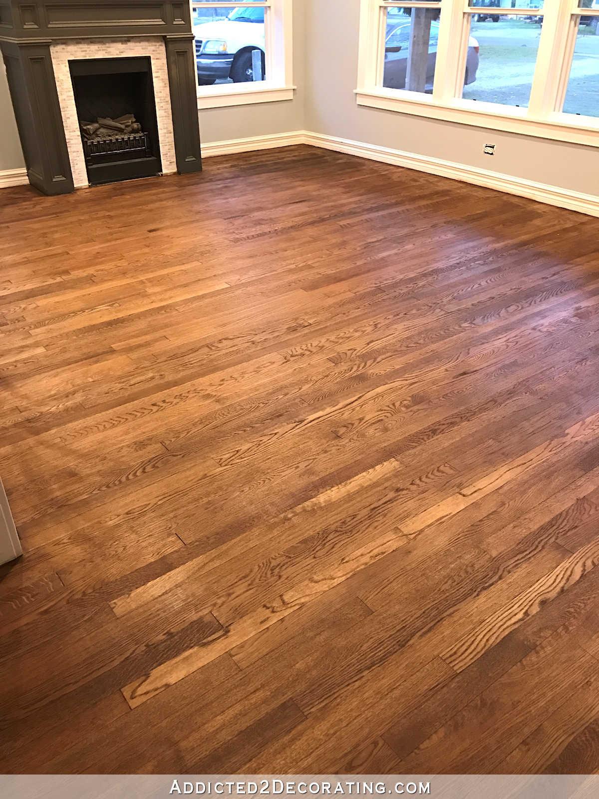change hardwood floor stain color of adventures in staining my red oak hardwood floors products process for staining red oak hardwood floors 8a living room and entryway