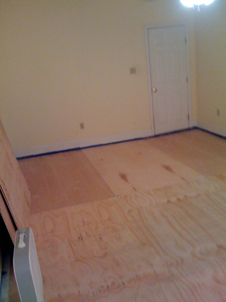Cost to Refinish Hardwood Floors Diy Of Diy Plywood Floors 9 Steps with Pictures with Picture Of Install the Plywood Floor