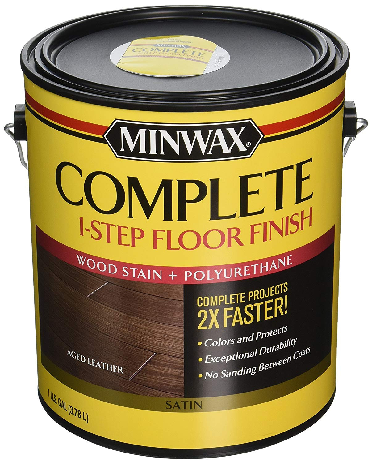 Cost to Stain Hardwood Floors Of Minwax 672050000 67205 1g Satin Aged Leather Complete 1 Step Floor Pertaining to Minwax 672050000 67205 1g Satin Aged Leather Complete 1 Step Floor Finish Amazon Com