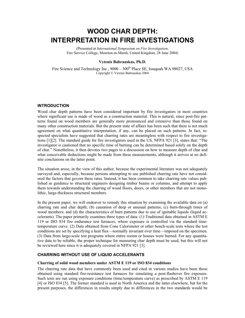 d lux hardwood floors inc of pdf wood char depth interpretation in fire investigations intended for pdf wood char depth interpretation in fire investigations