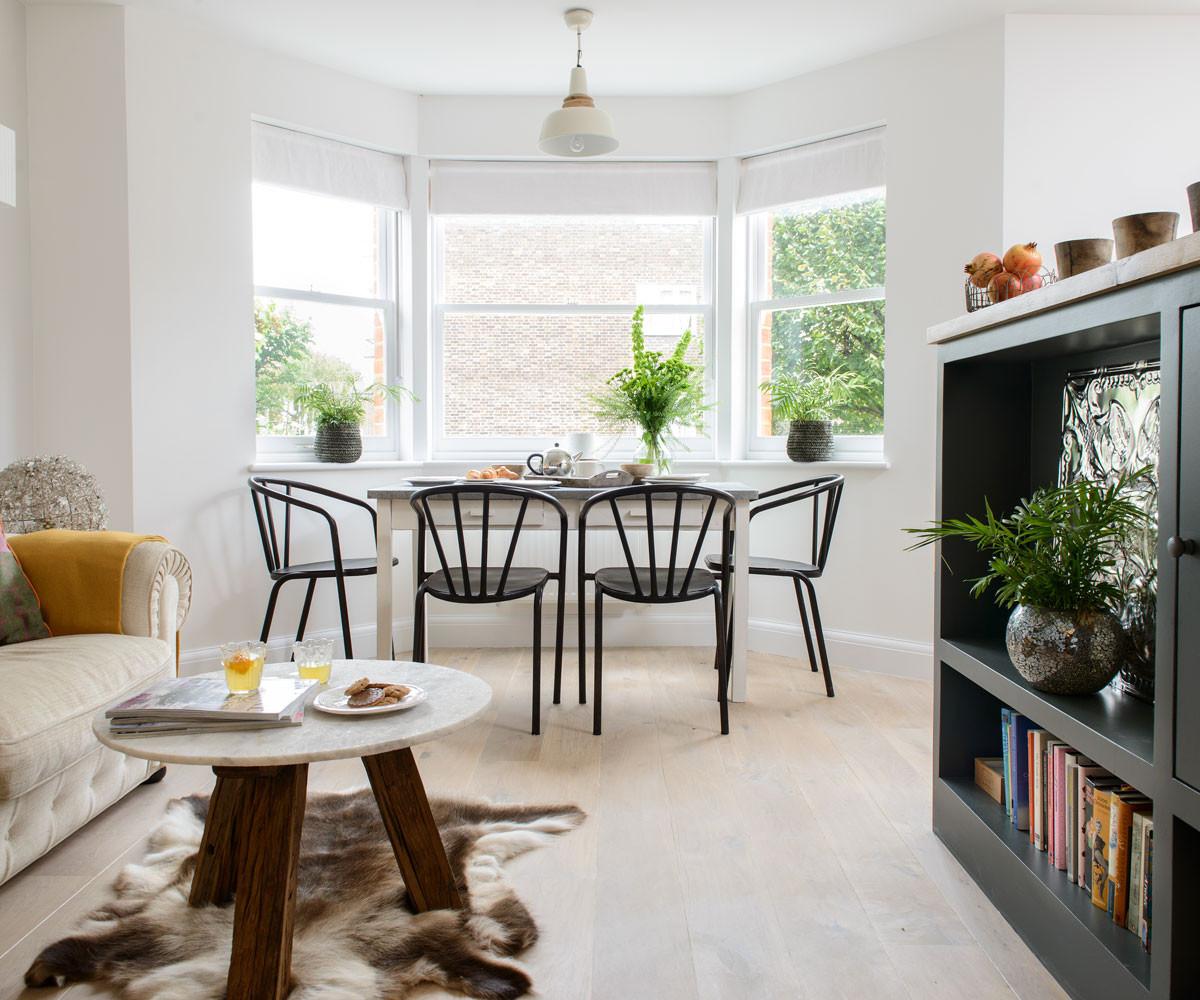 dark hardwood floor dining room of open plan living room ideas to inspire you ideal home in open plan living room
