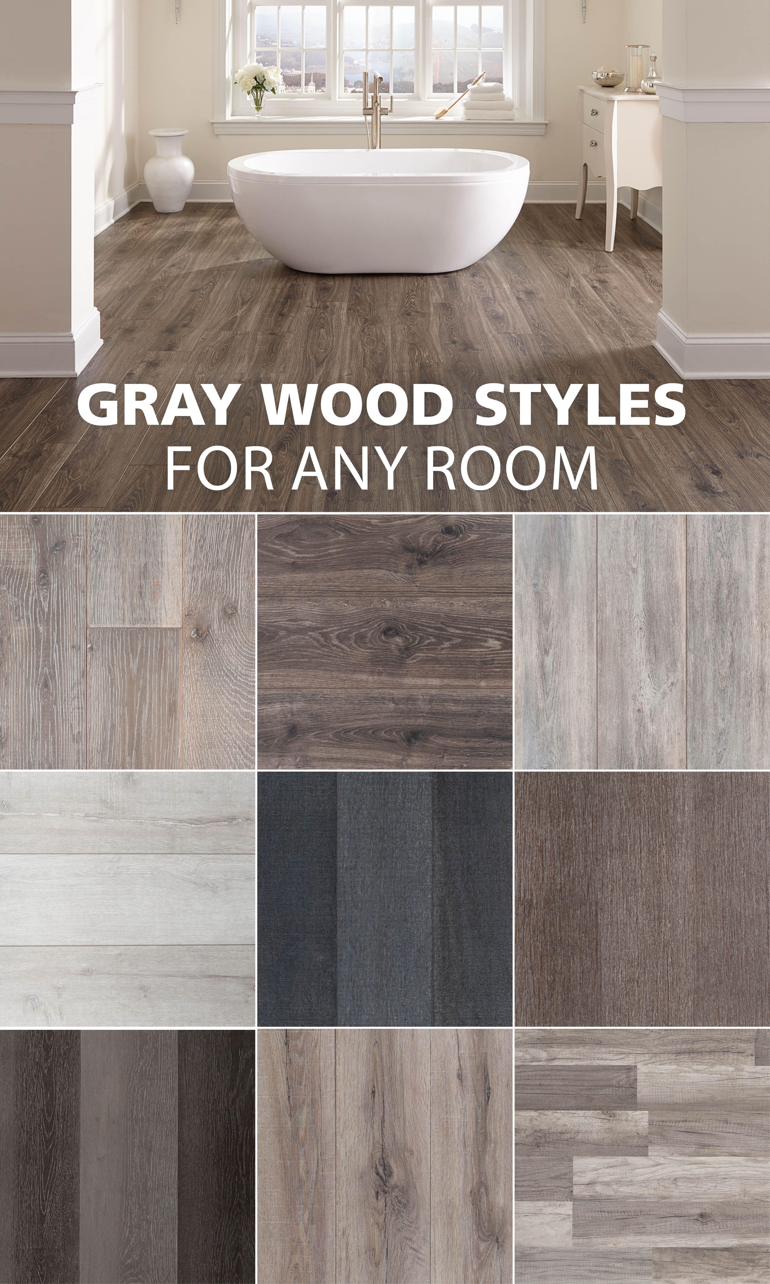 Dark Hardwood Floors And Grey Walls