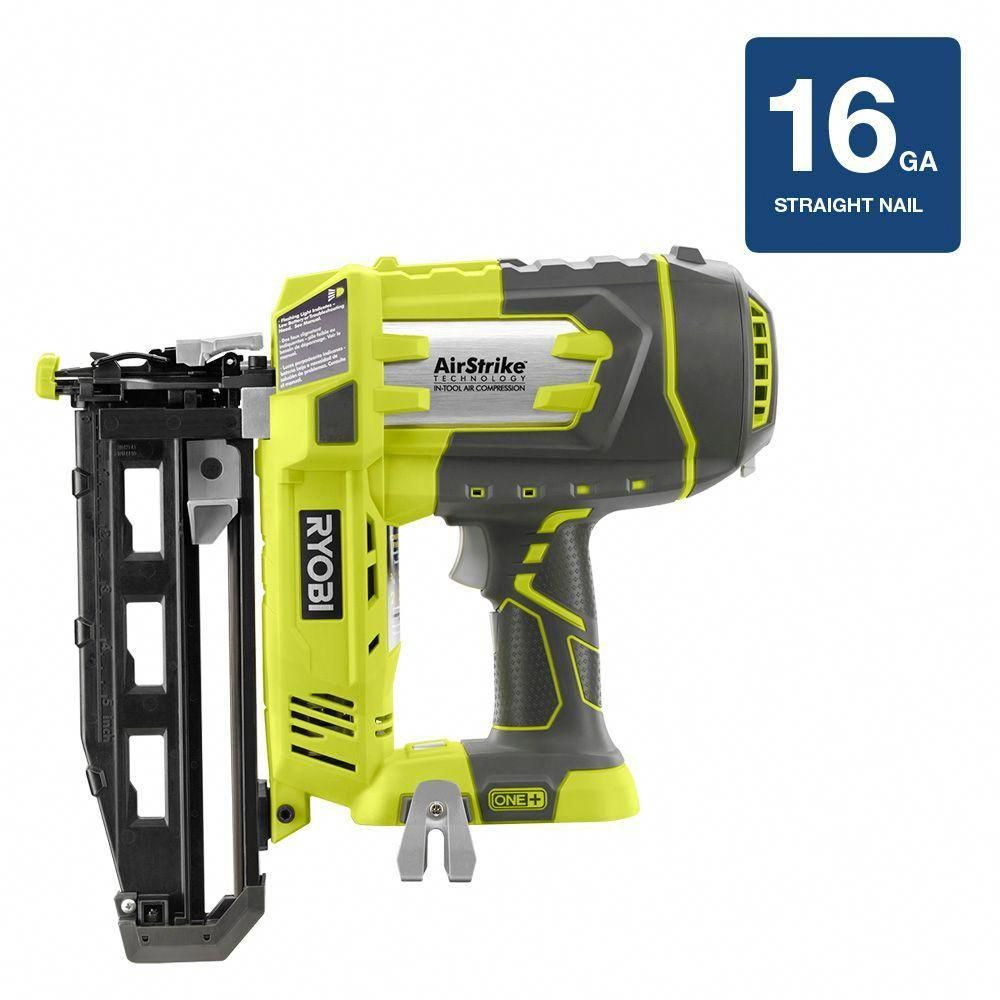Dewalt Hardwood Floor Nailer Of Ryobi 18 Volt One Airstrike 16 Gauge Cordless Straight Nailer tool with Ryobi 18 Volt One Airstrike 16 Gauge Cordless Straight Nailer tool Only
