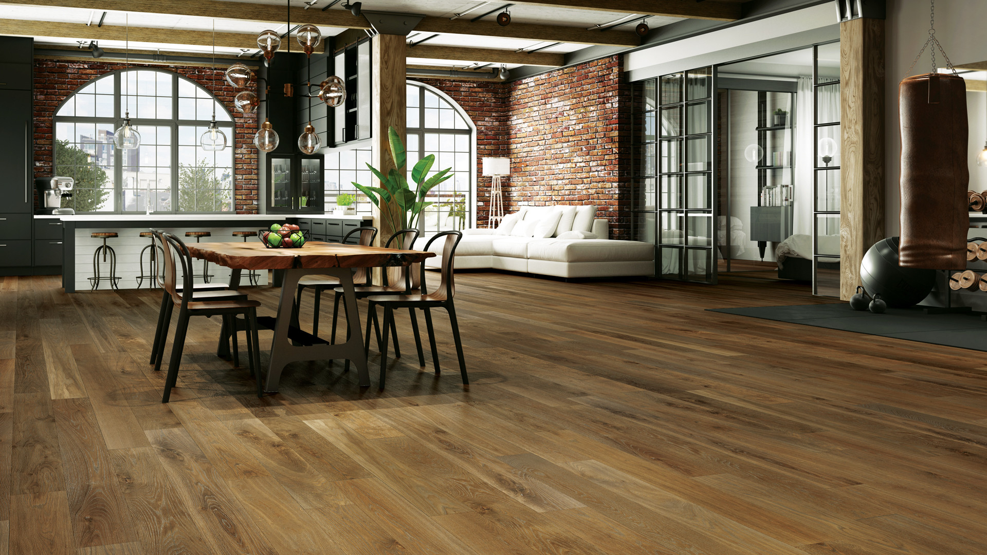 different color hardwood floors in adjacent rooms of 4 latest hardwood flooring trends of 2018 lauzon flooring pertaining to combined with a wire brushed texture and an ultra matte sheen these new 7a½ wide white oak hardwood floors will definitely add character to your home