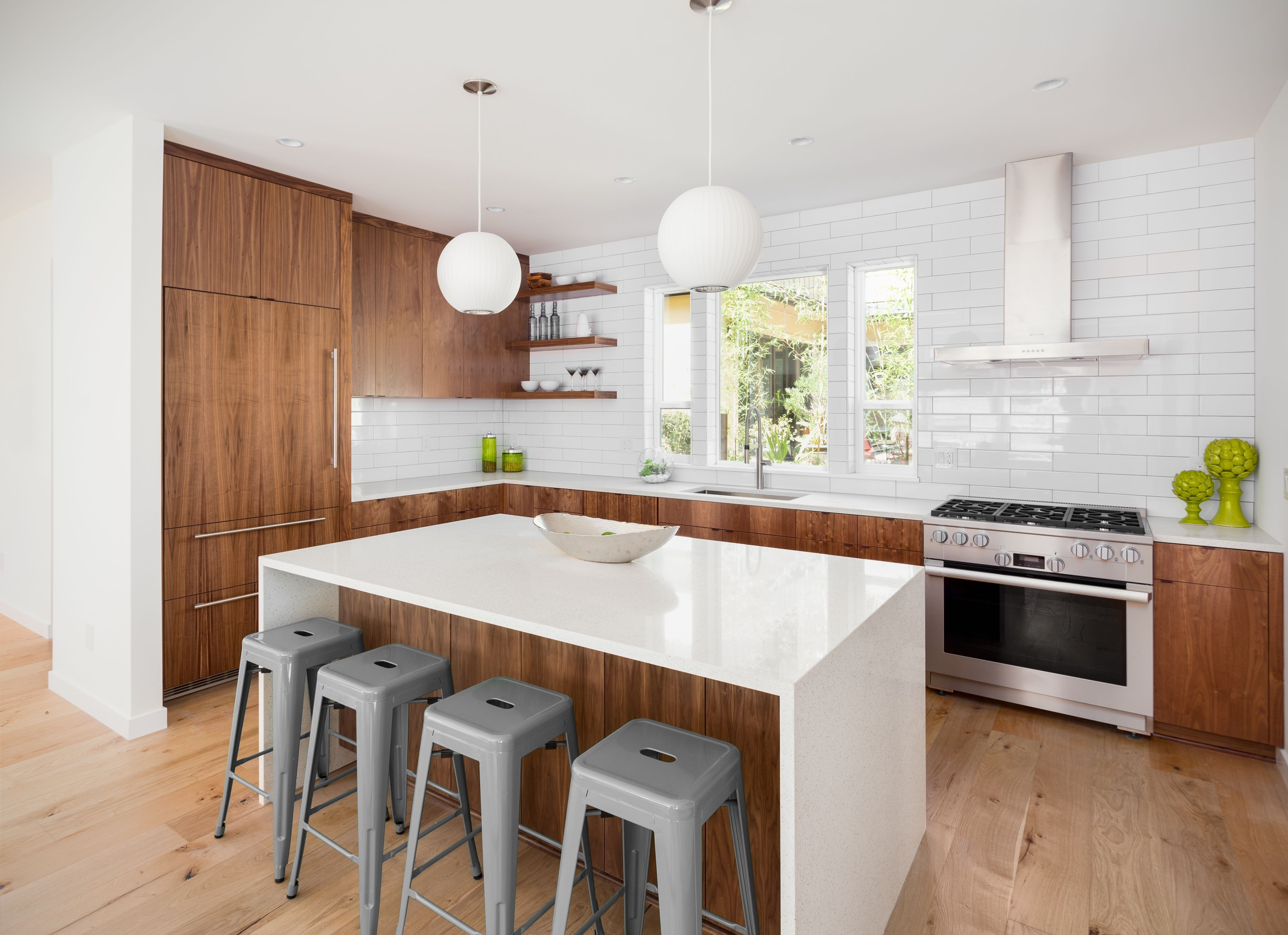 different colored hardwood floors same house of gorgeous painting kitchen cabinets two different colors painted intended for beautiful kitchen in new luxury home with island pendant lights and hardwood floors 935916772 5ab408a6c064710036f8e177