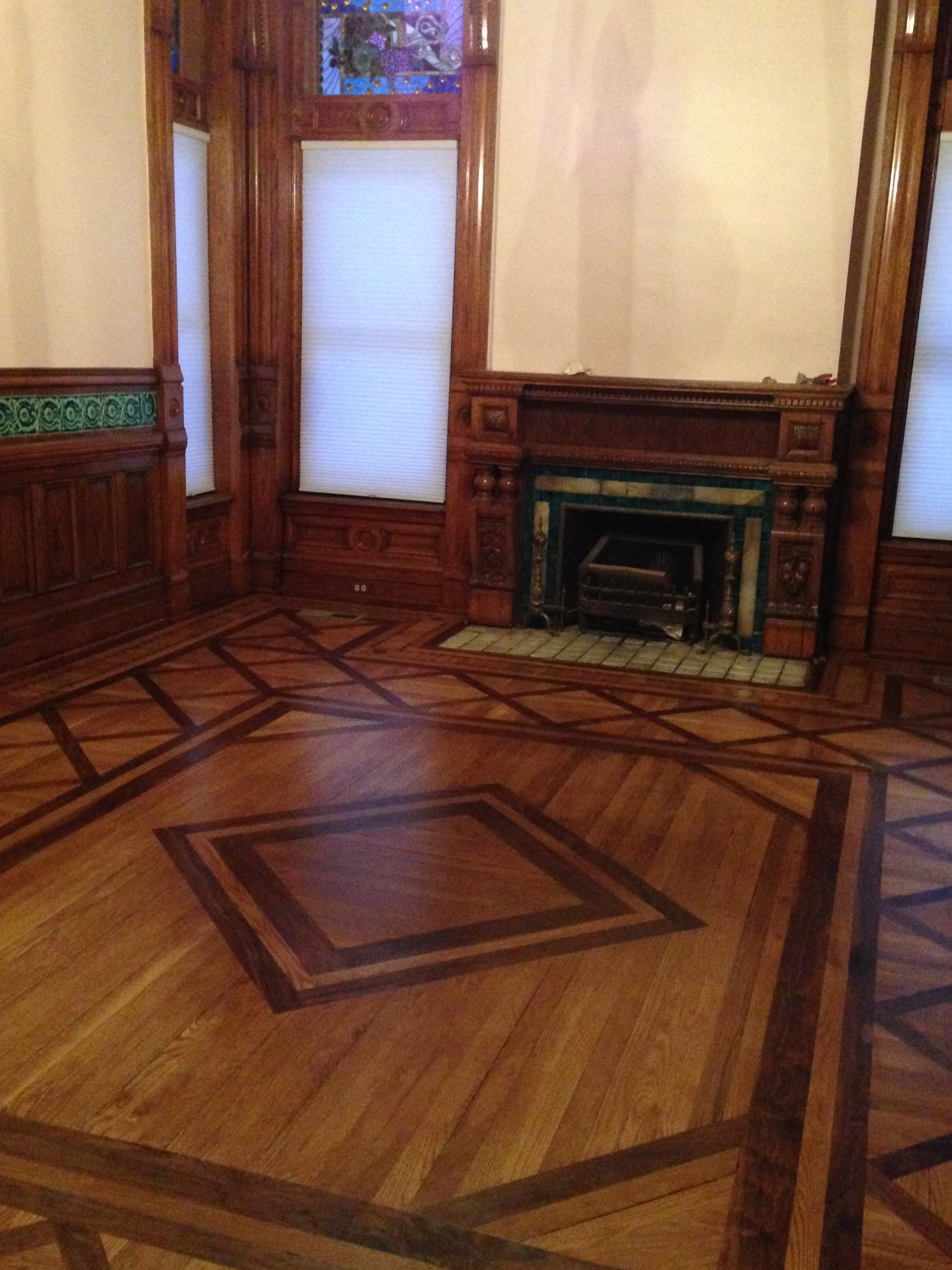 discount hardwood flooring knoxville tn of explore the shakespeare chateau inn and gardens in here shown at left the faithful reproduction of the parquet floor in the dining room the original floor suffered irreparable water damage during and