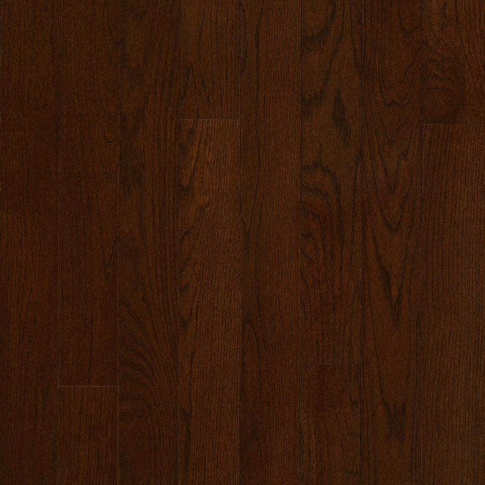 distressed hardwood flooring ontario of red oak solid hardwood hardwood flooring the home depot inside plano oak mocha 3 4 in thick x 3 1 4 in