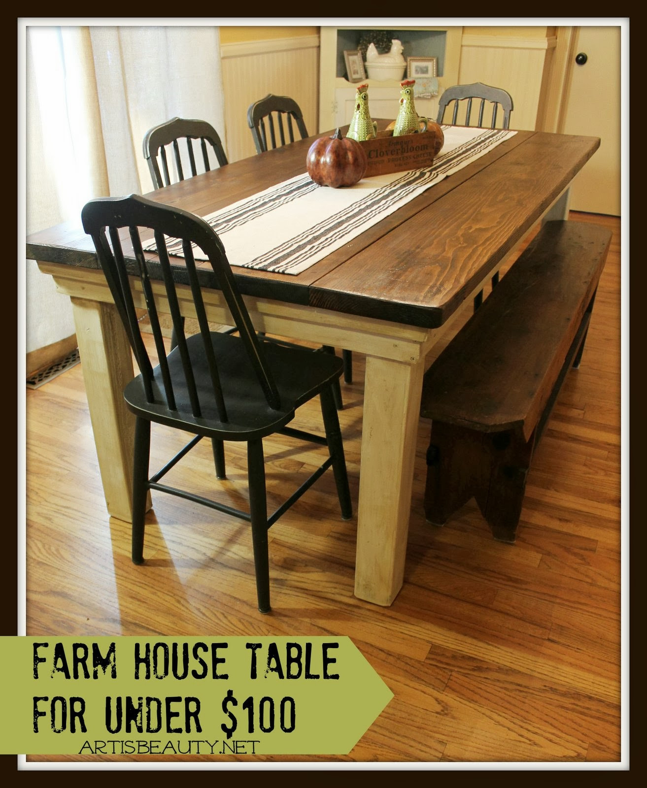 diy hardwood floor table of remodelaholic build a farmhouse table for under 100 pertaining to build a farmhouse table for under 100 art is beauty featured on remodelaholic com