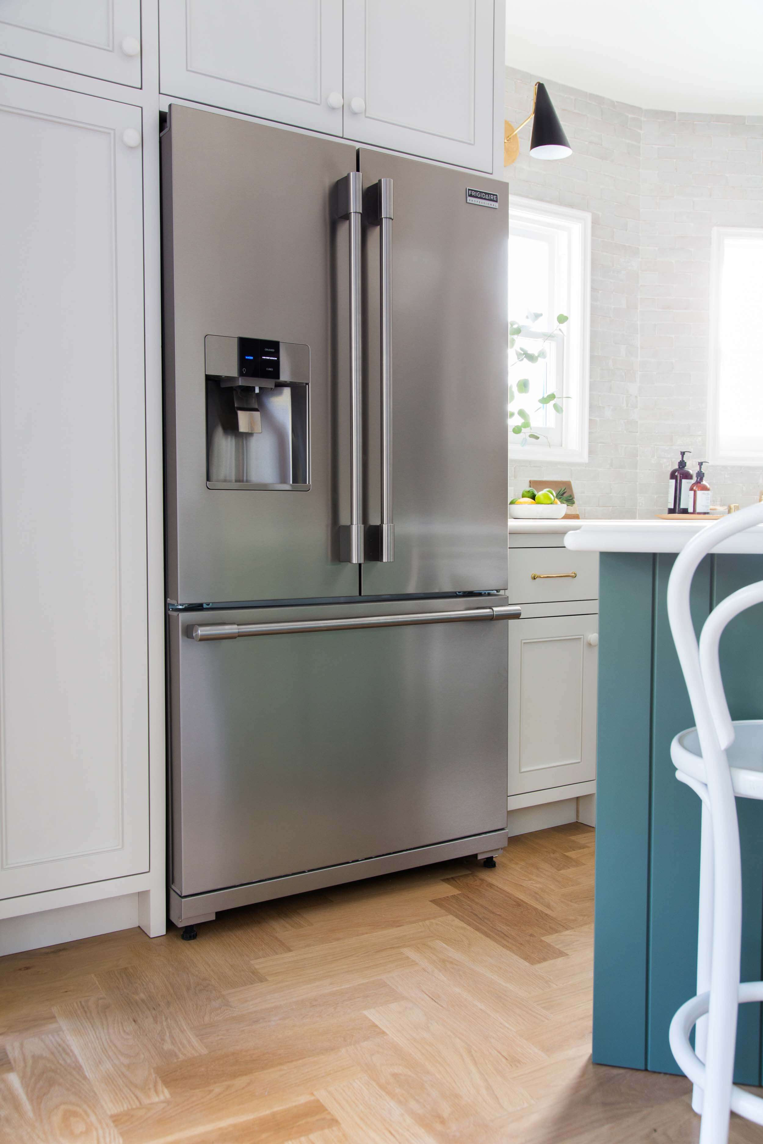 dm hardwood floors of my kitchen design a year later lots to love some regrets emily with emily henderson full kitchen reveal waverly frigidaire 201