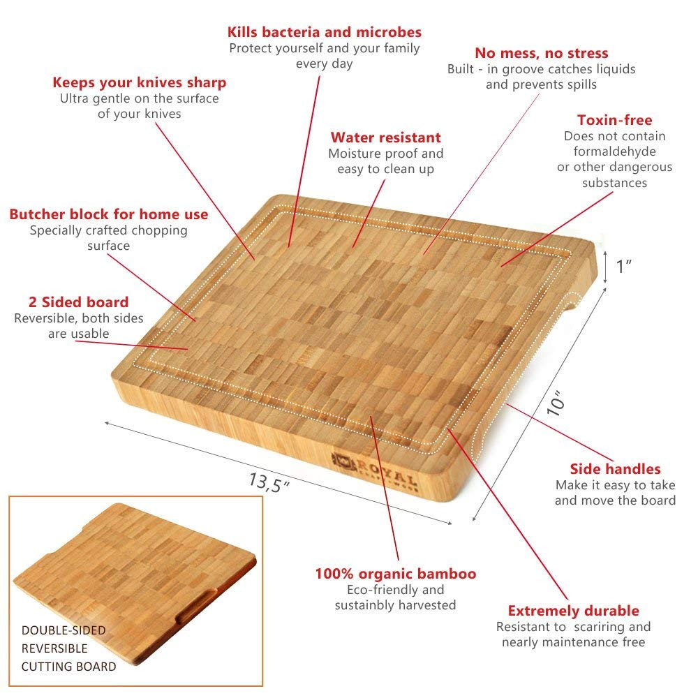 do it yourself hardwood floor cleaner of amazon com thick bamboo wood cutting board kitchen butcher block regarding amazon com thick bamboo wood cutting board kitchen butcher block heavy duty chopping board with juice grooves and handles best for carving meat