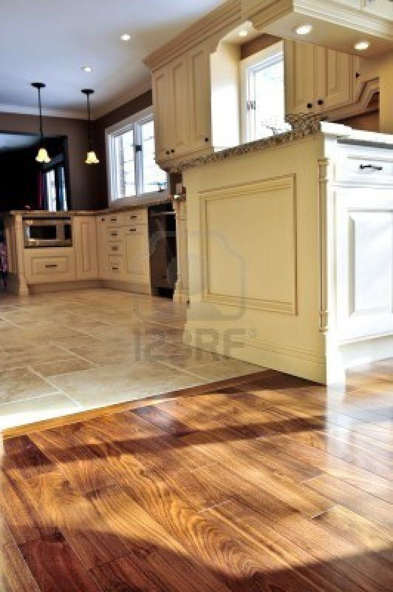 dustless hardwood floor refinishing st louis of hardwood and tile floor in residential home kitchen and dining for throughout wood and tile flooring combinations google search