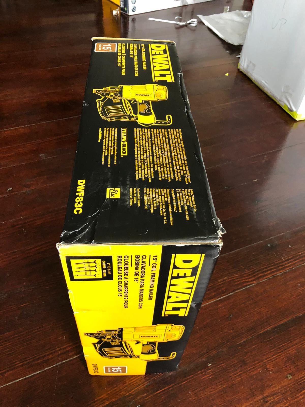 ebay hardwood floor nailer of dewalt dwf83c coil framing nailer power tool 579907 b0609 ebay intended for s l1600