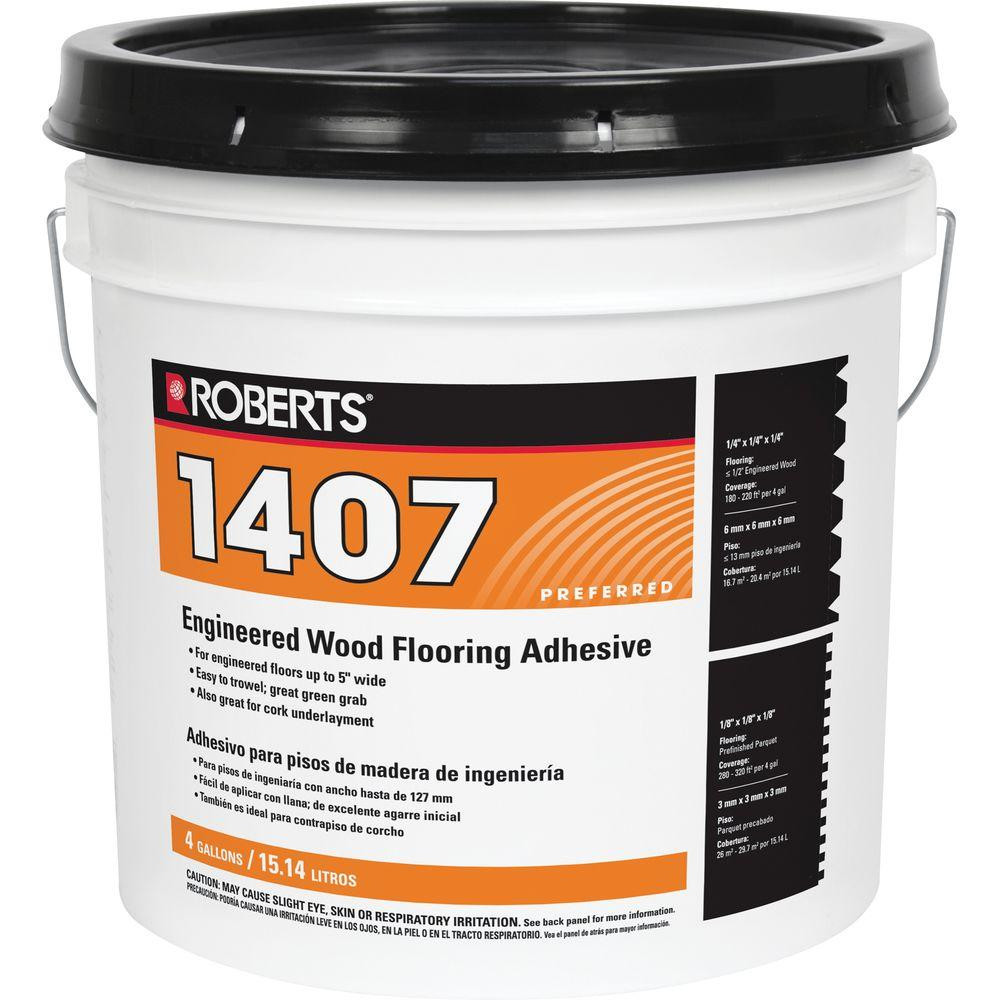 engineered hardwood flooring adhesive of roberts 4 gal premium vinyl tile glue adhesive 2057 4 the home depot with engineered wood flooring glue adhesive