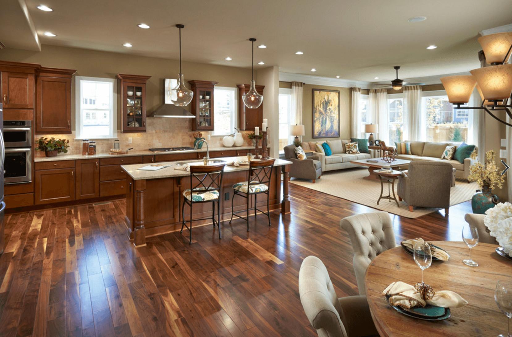 engineered hardwood flooring barrie of gleaming wood flooring ties the space together 6 great reasons to in gleaming wood flooring ties the space together 6 great reasons to love an open floor plan