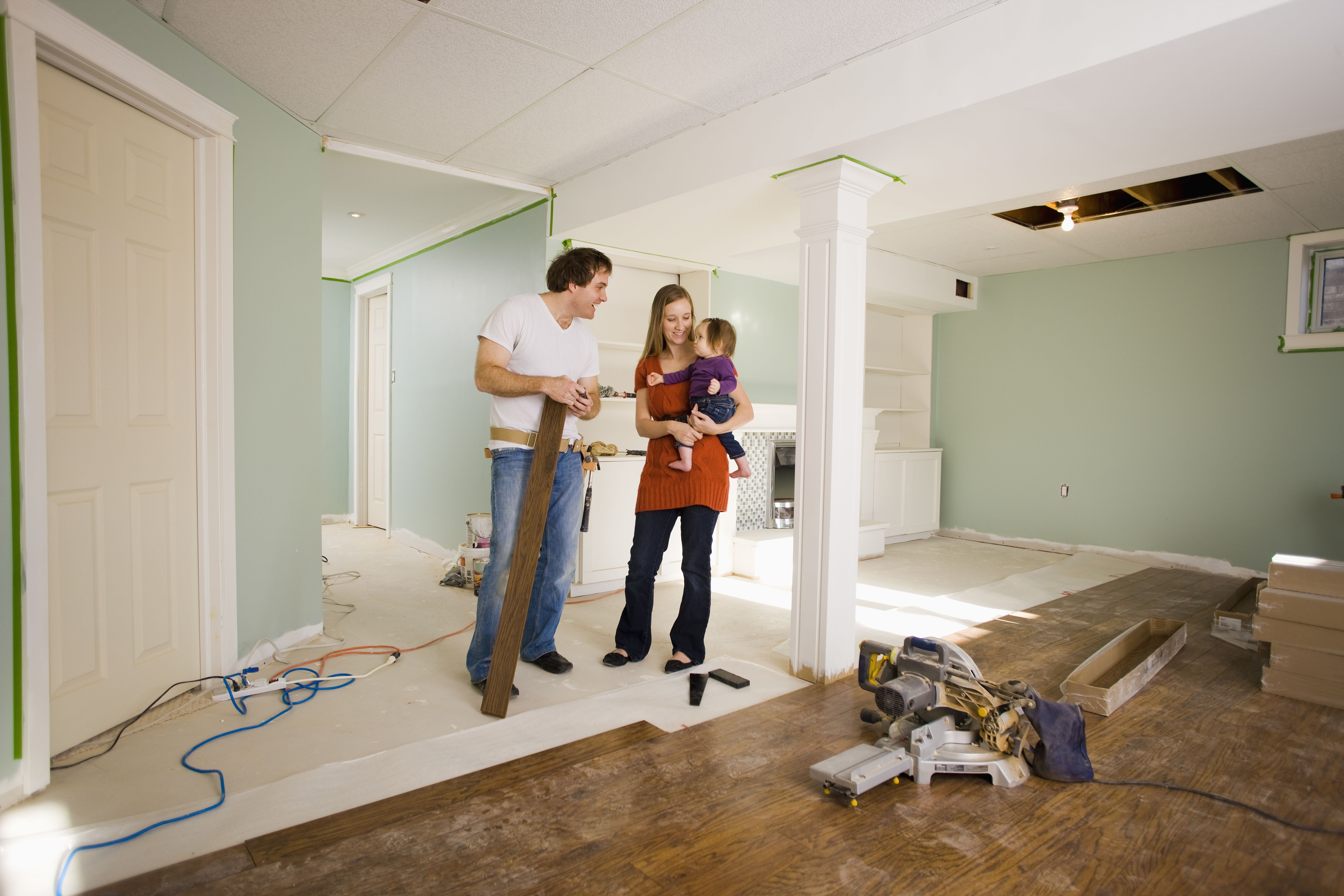 18 Unique Engineered Hardwood Flooring for Basement 2021 free download engineered hardwood flooring for basement of basement flooring options for any home inside couple with 11 month old daughter in their basement that is being finished 527925478 582c93865f9b58