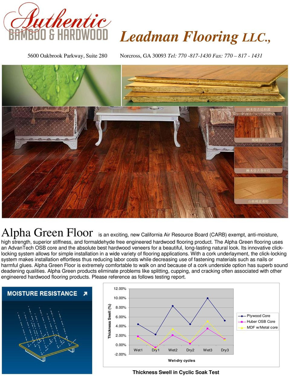 engineered hardwood flooring manufacturers canada of leadman flooring llc pdf in strength superior stiffness and formaldehyde free engineered hardwood flooring product