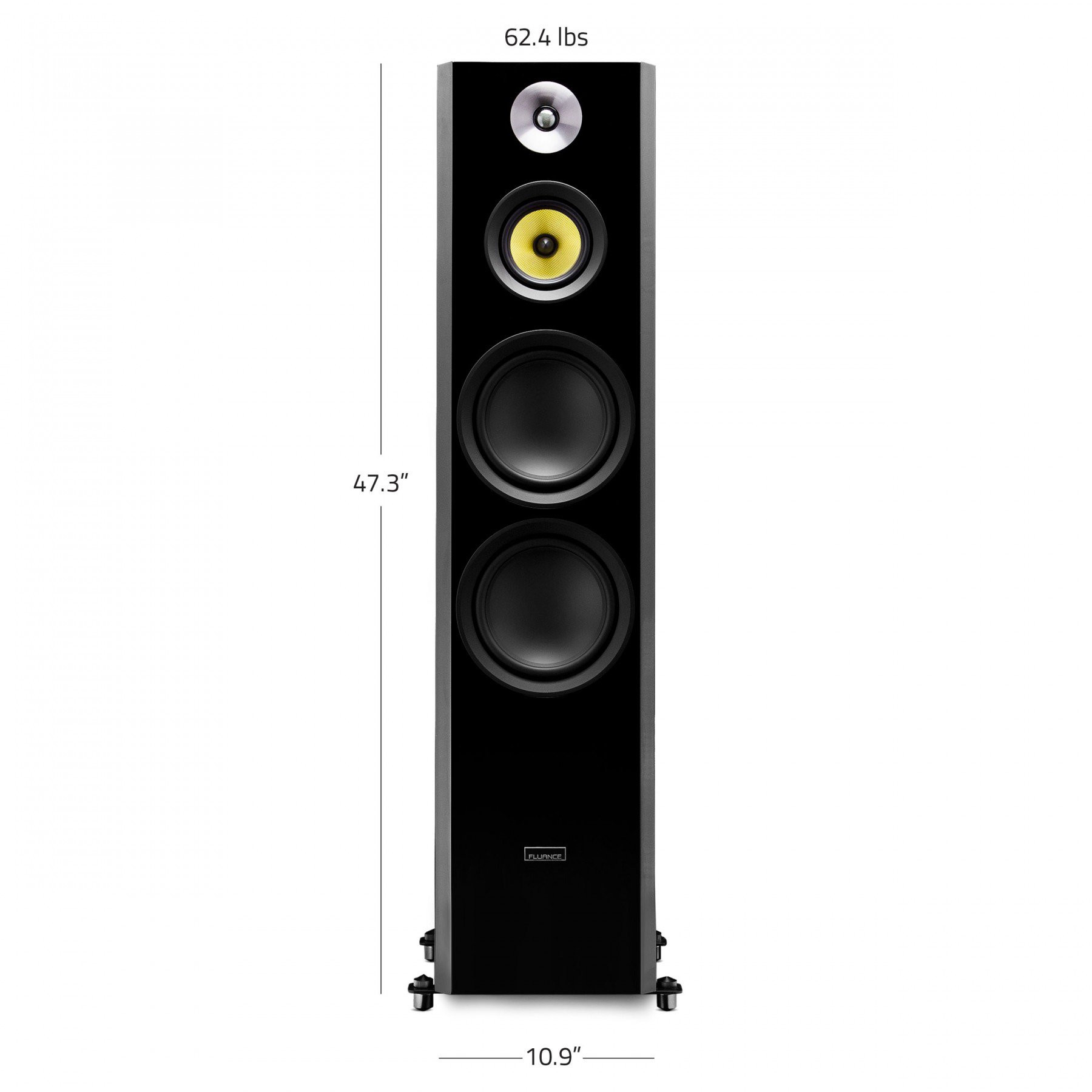 Expert Hardwood Flooring Ontario Of Hff Signature Series Hi Fi Three Way Floorstanding Speakers Black for Signature Series Hi Fi Three Way Floorstanding Speakers