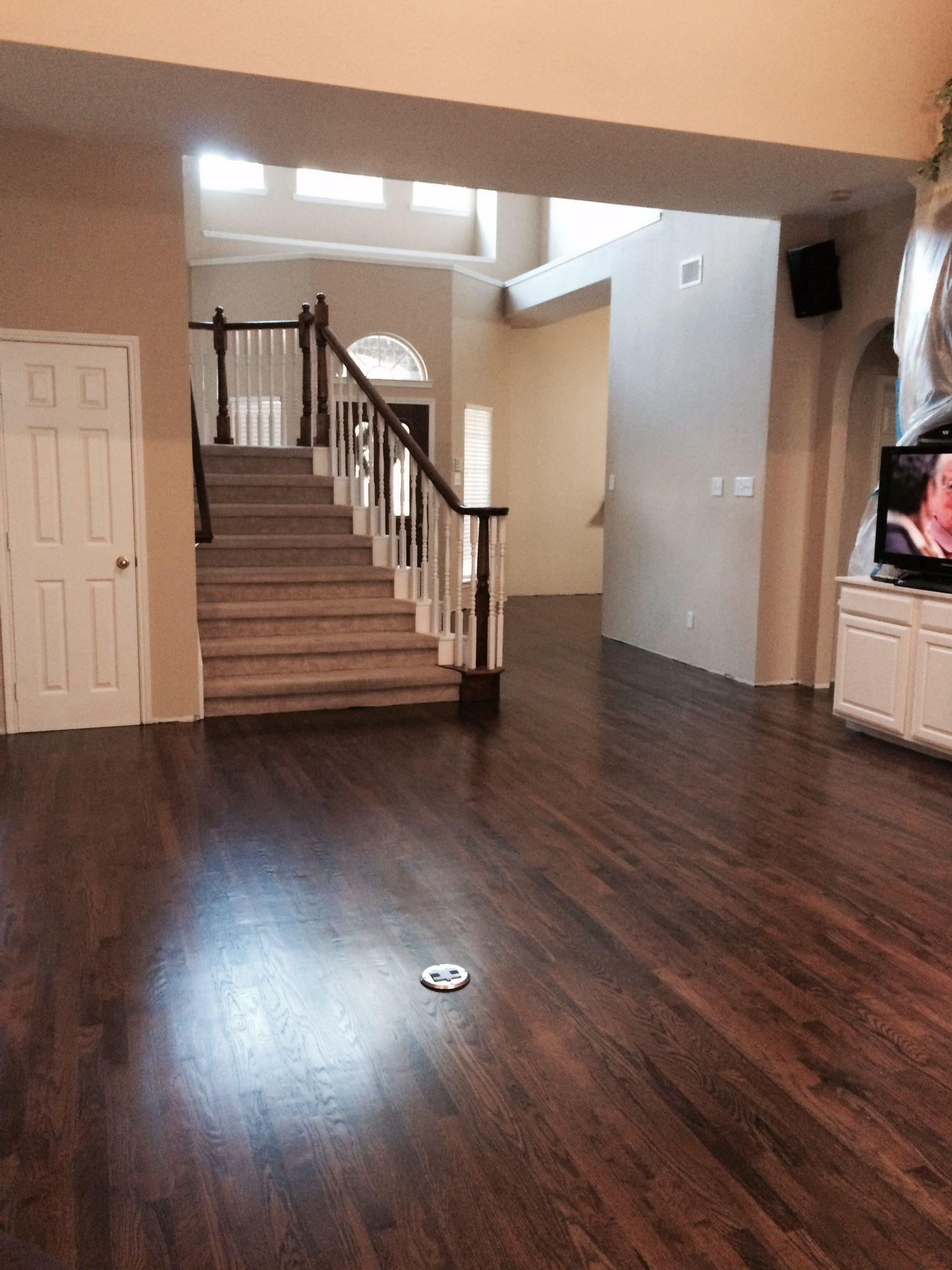 fake hardwood floor over carpet of dark walnut stain on white oak hardwood remodel 1floors in 2018 with dark walnut stain on white oak hardwood walnut hardwood flooring hardwood floor stain colors